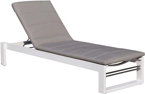 Delorm - Bain de soleil en aluminium et tissu d'oléfine St Tropez