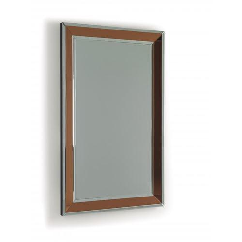 Miroir rectangulaire en verre cuivré GREGOIRE
