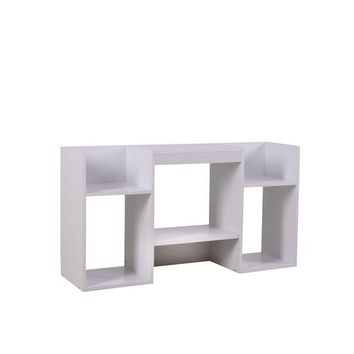 Etagère meuble de rangement, 6 niches, 59x30x109cm, blanc