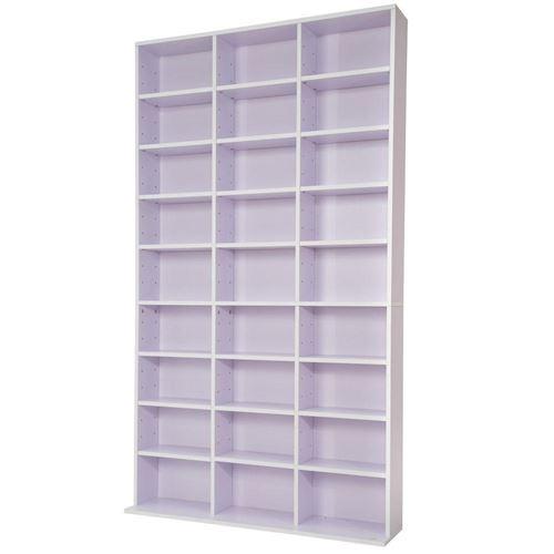 Armoire étagère rangement CD / DVD meuble de rangement pour 1 000 CDs blanc/violet