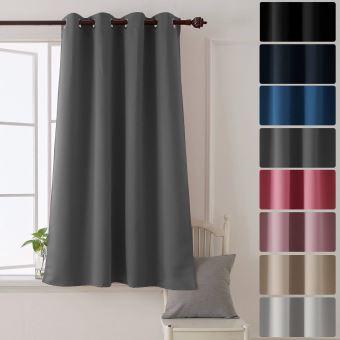 deconovo rideau a oeillet rideau isolant thermique rideau occultant pour chambre salon 132x160cm rideau fenetre gris clair