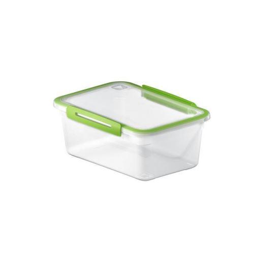 SUNDIS Boîte de conservation plate Memory 1268002 2 L 23x16x9,5 cm vert et transparent