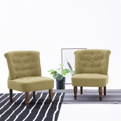Chaise française Vert Tissu