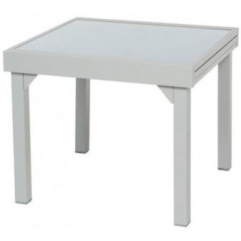 Table Piazza extensible 8 personnes gris/silver mat ...