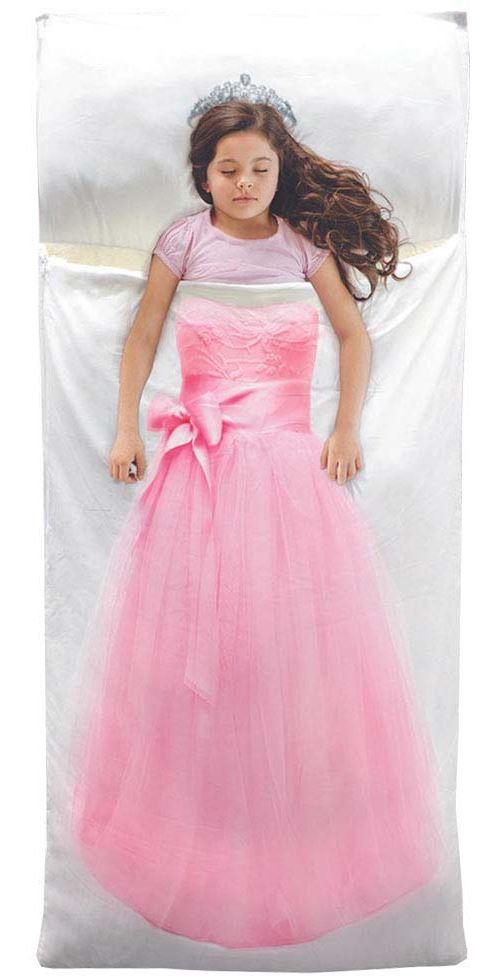 The Home Deco Kids - Sac de couchage enfant 170 x 70 cm Princesse - Rose