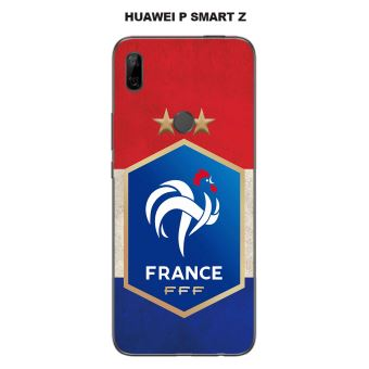 Coque Huawei P Smart Z design Foot France fond drapeau