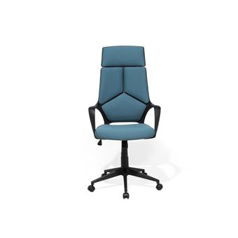 Chaise de bureau noire et bleu Delight