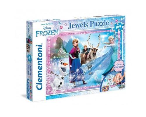 Puzzle 104 Pièces : La Reine des Neiges, Clementoni