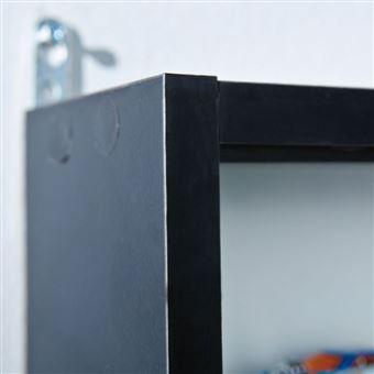 15 sur meuble vitrine mural 80x60 pour collections figurine camion voiture noir blanc achat prix fnac