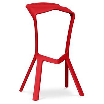 16010 Sur Myfaktory Tabouret De Bar Design Rouge Achat Prix