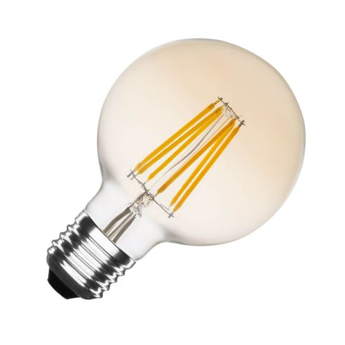 TECHBREY Ampoule LED E27 Dimmable Filament Gold Planet G95 6W