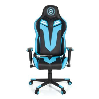 Gamer Fauteuil Cuir Noir Simili De Bleu Vr Chaise 12 Hjh Office Bureau Gaming Gamebreaker rBdoeCx