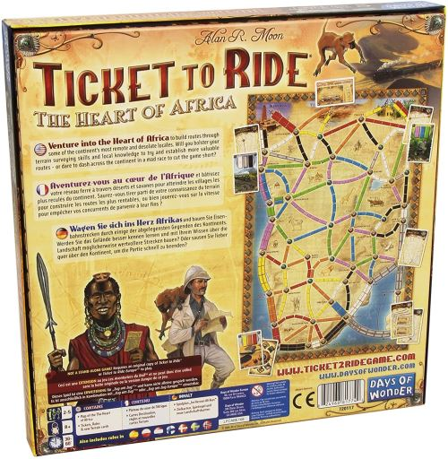 Asmodee - AVE13 - Jeux de Stratégie - Ticket to Ride MC3 - Heart of Africa