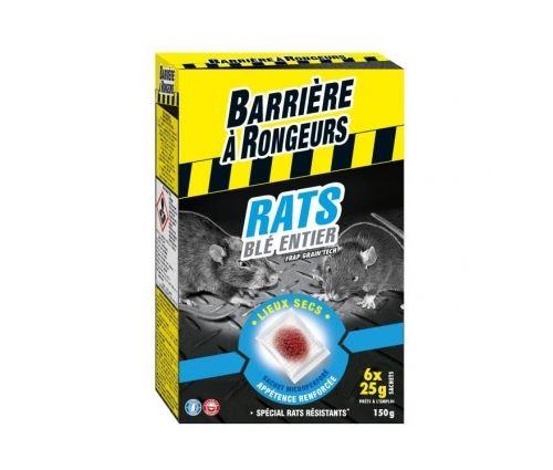 Barriere a rongeurs appat sur cereales pour rats - special lieux secs - 150 g