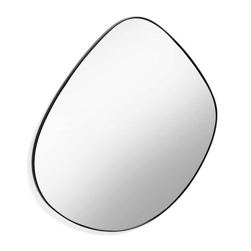 Miroir 90 cm en métal noir APOLO