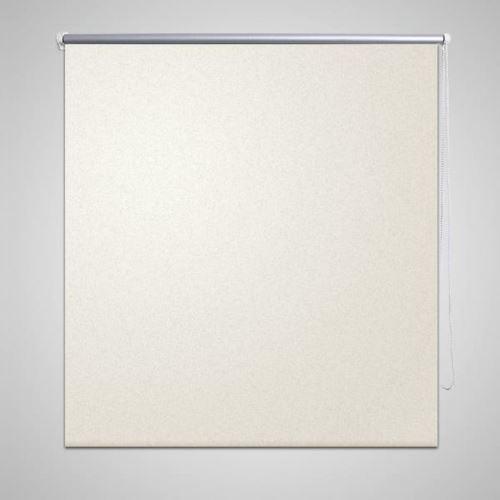 Store Occultant Thermique Réglable avec Mécanisme à Chaîne et Rouleau 100 x 230 cm Crème