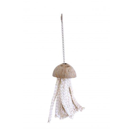 Happy Pet Nature - Jouet pour oiseau design noix de coco et octopus (47 x 11 x 11cm) (Peut varier) - UTBT859