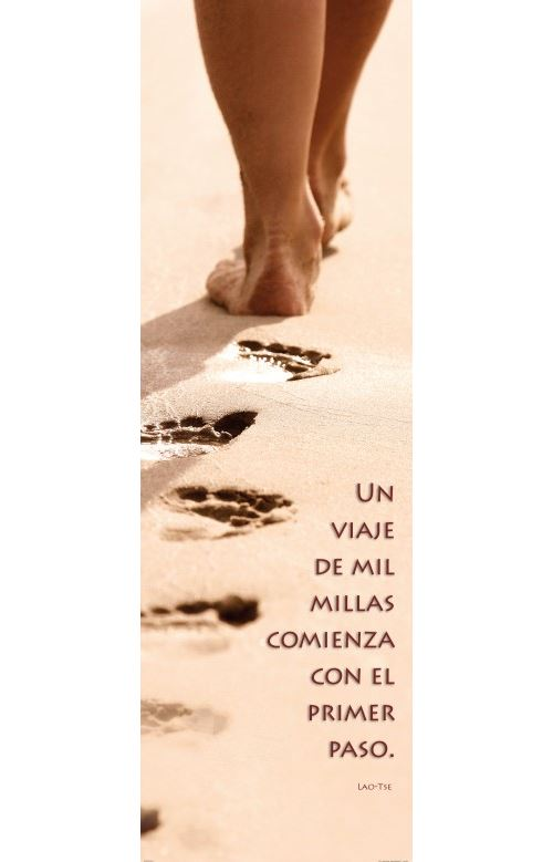 Motivation Papier Peint Photo/Poster - Un Viaje De Mil Millas Comienza Con El Primer Paso, 1 Partie (250x79 cm)
