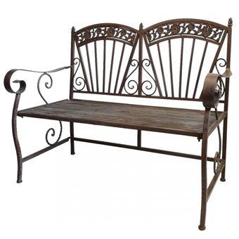 36 70 sur l 39 h ritier du temps banc banquette assise de jardin mobilier pliable 2 ou 3 places. Black Bedroom Furniture Sets. Home Design Ideas