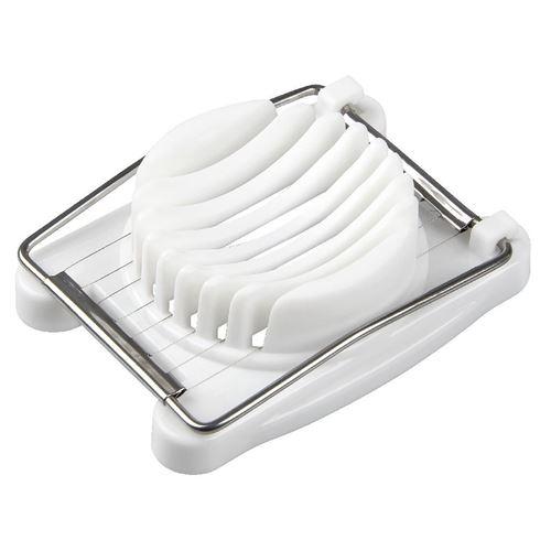 Fackelmann Basic Coupe-œufs 11x8 cm Blanc PP / Acier inoxydable
