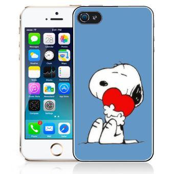 Coque pour iPhone SE snoopy coeur