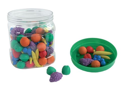 Fruits de couleur à trier 108 pièces - oz international