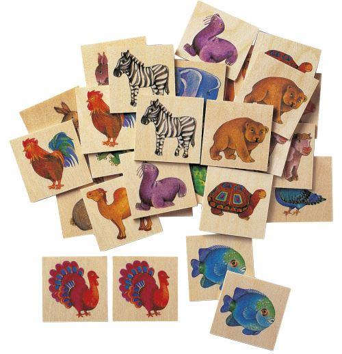 Selecta Spielzeug jeu de mémoire Memo Zoo junior bois 36 parties