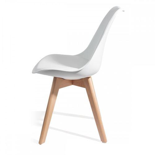 TOP scandinave style 4 qualité BREKKA design Blanc chaises 34AjLq5R