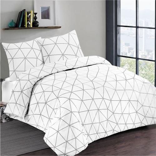 VISION Parure de couette HUGO - 140 x 200 cm - Blanc