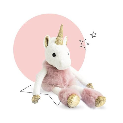 Peluche Doudou et Compagnie Girls & Glitter Licorne 25 cm Rose - Personnage en peluche. Achat et vente de jouets, jeux de société, produits de puériculture. Découvrez les Univers Playmobil, Légo, FisherPrice, Vtech ainsi que les grandes marques de puéricu