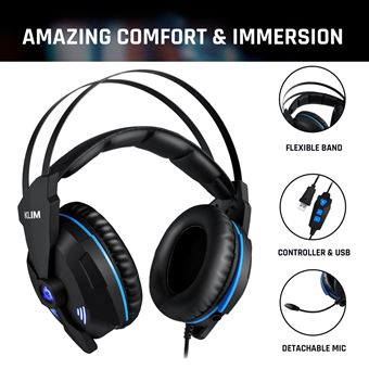 Klim Impact V2 Casque Gamer Usb Son 71 Surround Isolation