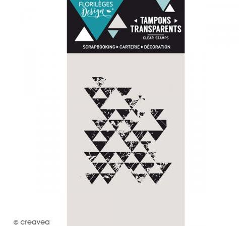 Tampon clear Traces de triangles - 1 pce