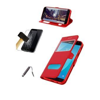 Etui Housse Coque Samsung Galaxy J3 2016 Rouge