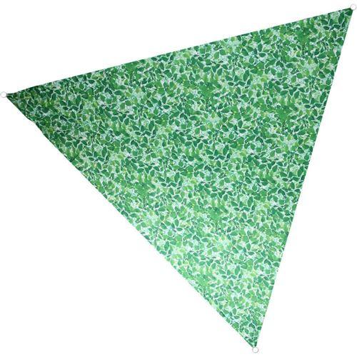 Nature Prints - Voile d'ombrage triangulaire avec sac de rangement Motif feuilles