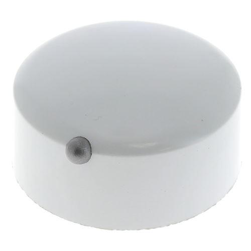 Bouton blanc 12h pour Cuisiniere Rosieres