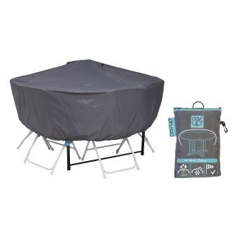 Housse de protection table ronde 160 cm - Cov\'Up - Gris ...