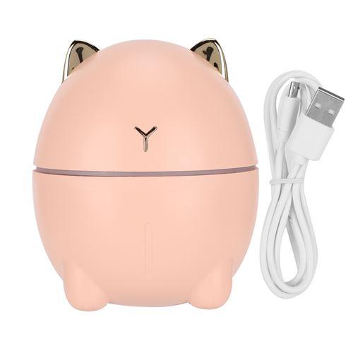 Mini Purificateur d'Air USB 200 Ml en Forme de Chat Mignon - Rose