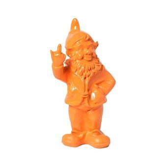 Statue en résine NAIN de jardin doigt d\'honneur orange - 33 ...