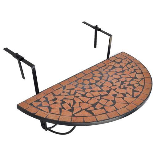 chunhe Table suspendue de balcon Terre cuite Mosa?que AB41123