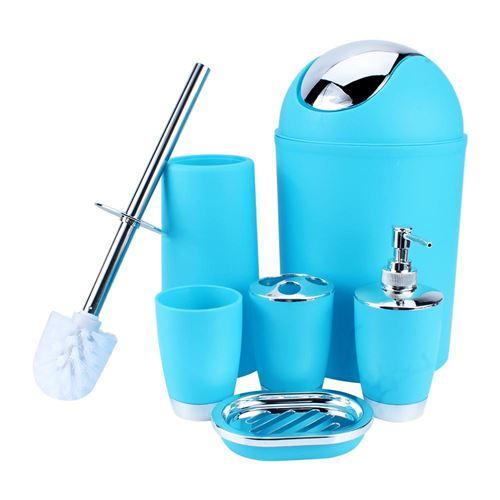 Accessoire salle de bains poubelle porte-savon distributeur gobelet porte-brosse à dents
