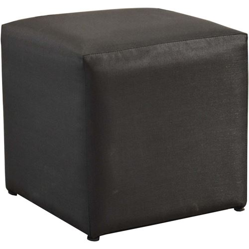 Proloisirs - Pouf tabouret extérieur Cub 43 cm Noir