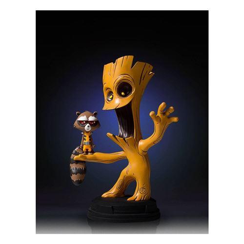 Statue en résine de raton laveur animé de style animé et de studios de géant