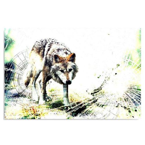 Toile Tableau imprimé Image décorative murale Canevas Loup 4 70x50