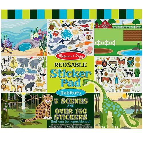 Stickers Repositionnables 150 + 5 Scènes Les Animaux Enfants 3 Ans +