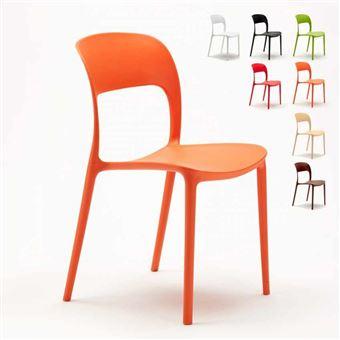 à coloré Chaise manger restaurant design salle en bar RESTAURANTCouleurOrange polypropylène dCerxoB