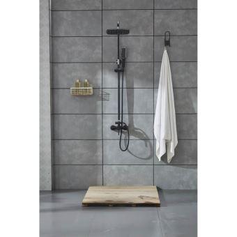 Agéa - Colonne de douche noir mitigeur \'carrée ...