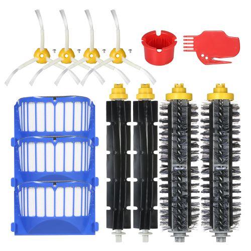 Pack de 13 accessoires de rechange pour iRobot Roomba série 600 690 691 694 650 651 664 615 601 630 Aspirateur - Brosse à poils + brosse flexible + filtre + brosse latérale + outil de nettoyage