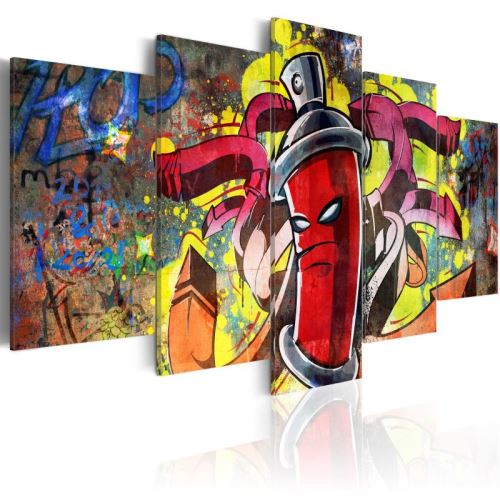 Tableau - Angry spray can .Taille : 100x50