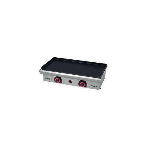 Plancha gaz lisse - Surface acier : 750 x 390 mm - inox