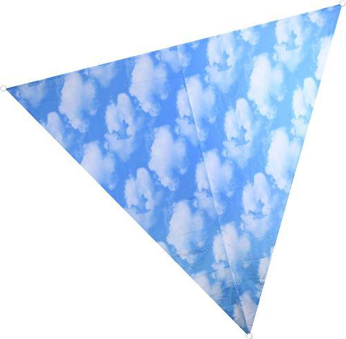 Nature Prints - Voile d'ombrage triangulaire avec sac de rangement Motif ciel